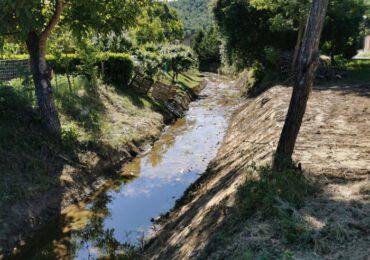 Sicurezza dei corsi d'<b>acqua</b>, ripristinata la sezione idraulica del borro della Doccia ad Ambra