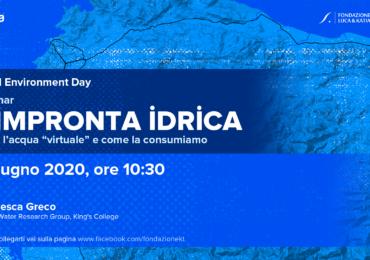 """""""L'impronta idrica"""", webinar online con la Fondazione Luca e Katia Tomassini per il World ..."""