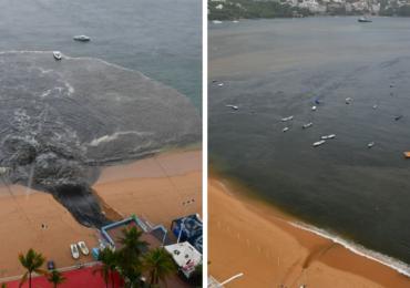 Inquinamento, <b>acque</b> nere nella baia di Acapulco in Messico VIDEO